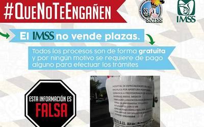 d0a8cee8a Advierte IMSS sobre bolsa de trabajo falsa - El Sol de Hidalgo